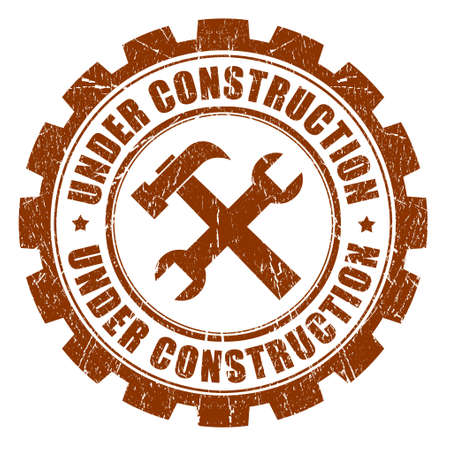 Under construction stamp Stock Photo - 15652480