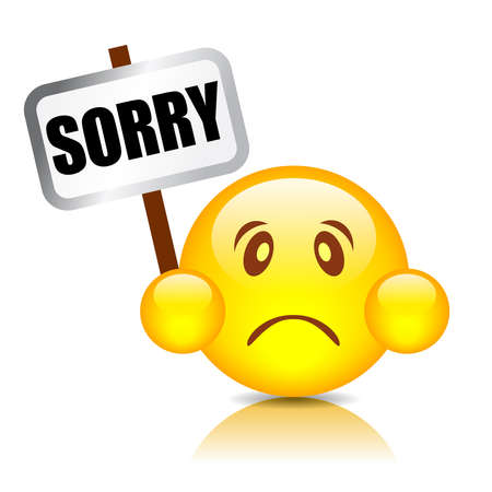 webpages: Sorry smiley illustration