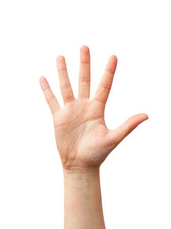 manos abiertas: Abra la mano, dame cinco Foto de archivo