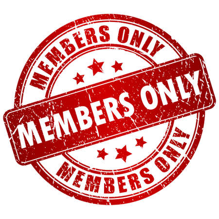 closed community: Members only stamp