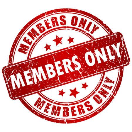 Membres seulement timbre