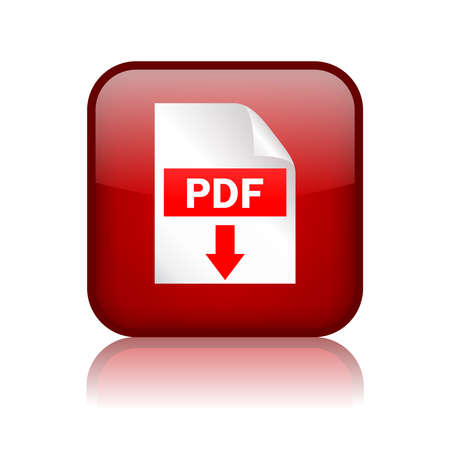 Pdf download square button Vector