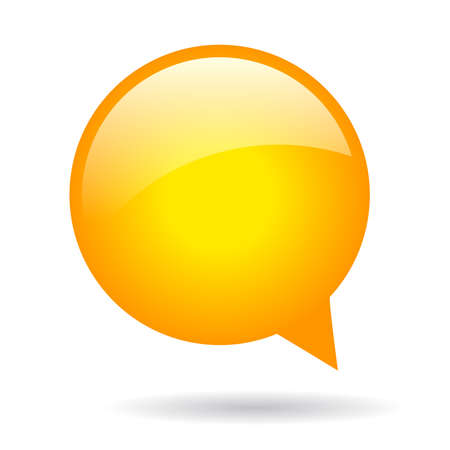 buzz: Orange round speech bubble Illustration