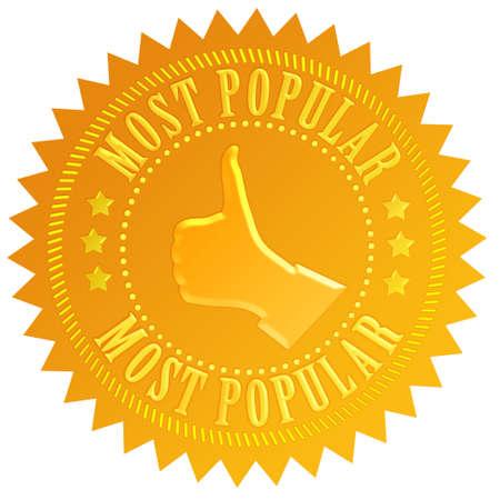 De meeste populaire zakelijke zegel geïsoleerd op wit Stockfoto
