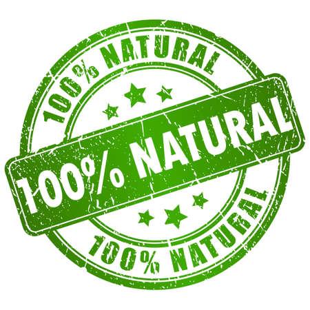 hundred: natural stamp Illustration