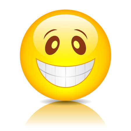 Smiling funny face Vector