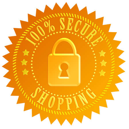 Secure shopping icon Stock Photo - 15834307