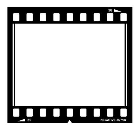film negative: film strip illustration Illustration