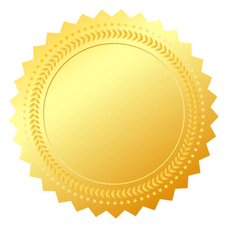 Blank gold token, illustration Vector
