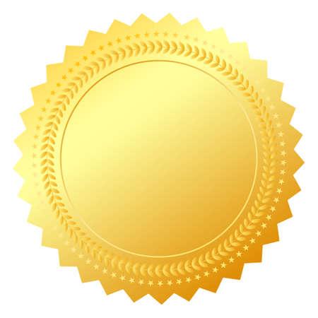 zeehonden: Blank goud token, illustratie Stock Illustratie