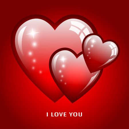 I love you romantic card, illustration Vector