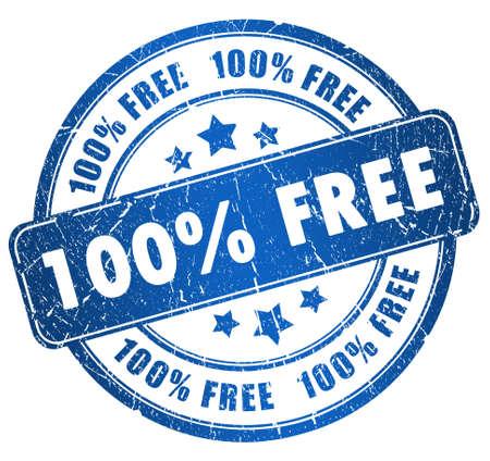 Grunge gratis stempel