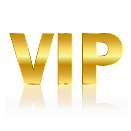 permit: Vip gold symbol
