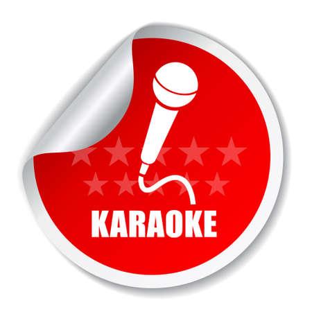 mic: Karaoke vettore etichetta