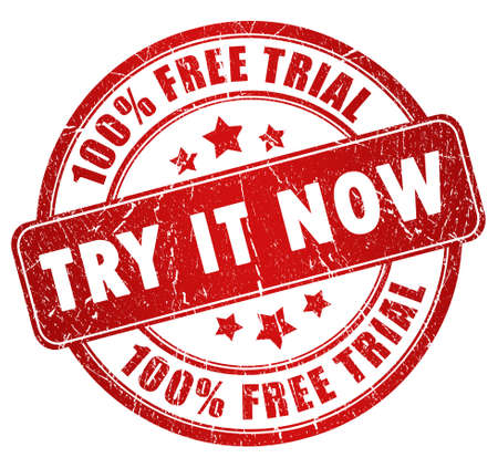 to try: Free trial stamp