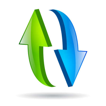 reload glossy icon Vektoros illusztráció