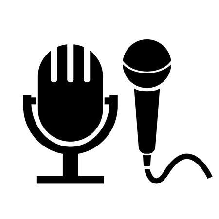 microphone icons Stock Vector - 16035621