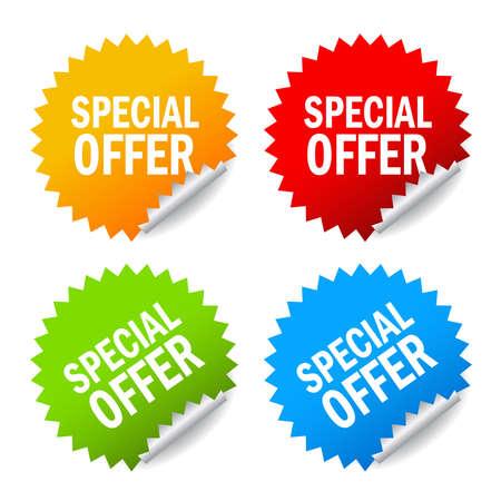 special offer:  special offer labels set Illustration