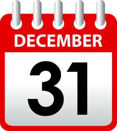 turn of the year: Calendar vector icon