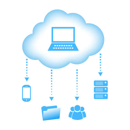 Vector cloud computing concept Vector