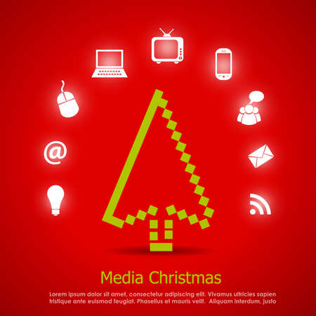 Media christmas vector card Vector