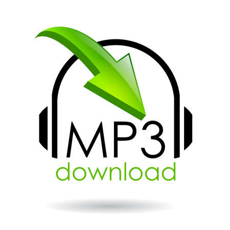 vector download: Mp3 download vector symbol