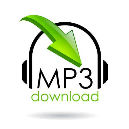Mp3 download vector, symbool,