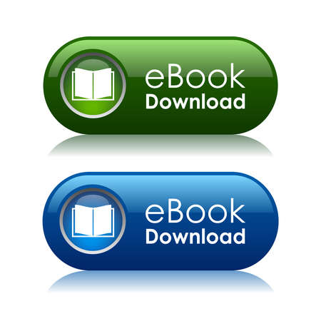 the reader: Ebook download icons, vector illustration