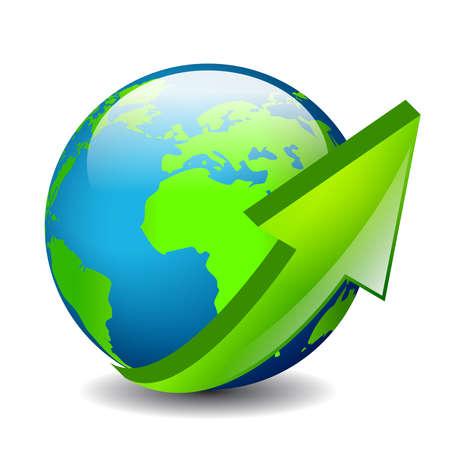 logo voyage: Autour de l'icône vecteur monde