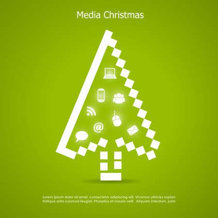 Merry christmas card Stock Vector - 16449355