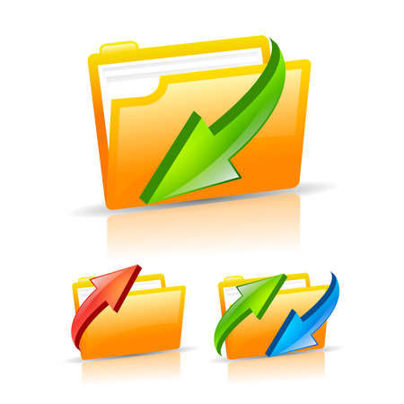 Folder icons set, illustration Vector