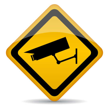 Video surveillance sign Stock Vector - 16449325