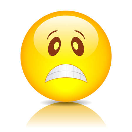 sentimientos y emociones: Triste emoticon, ilustraci�n