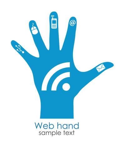 поколение: Концепция поколения Веб, иллюстрация