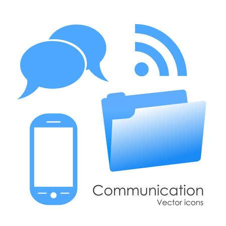 Vector communication icons Stock Vector - 16483904