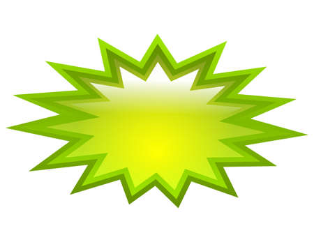 copyspace: Green splash icon Illustration
