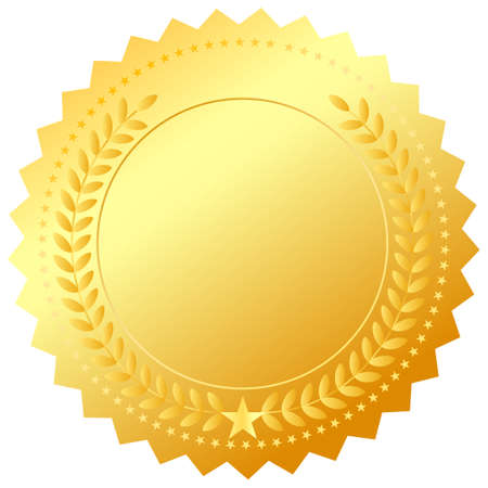 Vector golden award emblem Vector