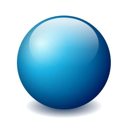 blue sphere: Vector ball illustration Illustration