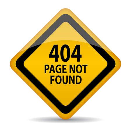 not found: 404 de p�gina no encontrada signo vector