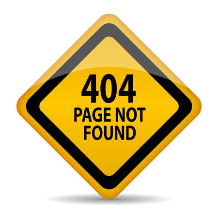 found: 404 page not found vector sign
