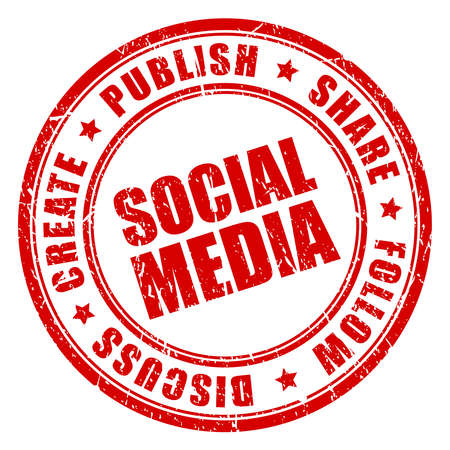 Social media vector stamp Stock Vector - 16570432
