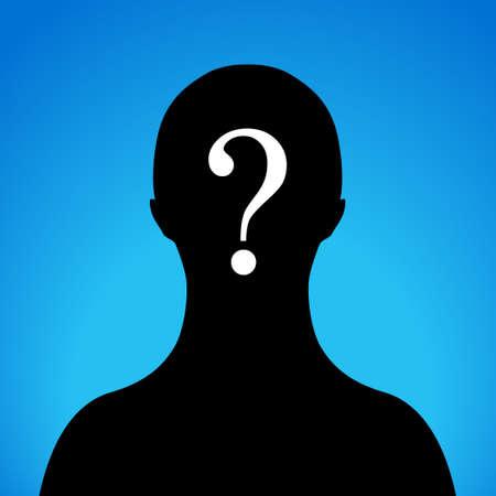 sconosciuto: Anonimo segno vettoriale