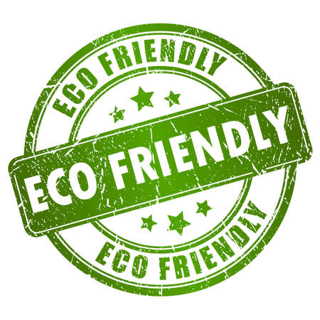 ecology emblem: Eco friendly vector stamp