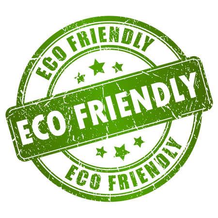 Eco friendly vector stempel Vector Illustratie
