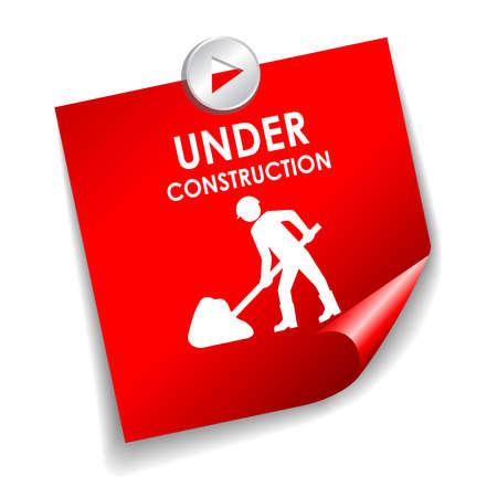 works: Under construction vector sticker
