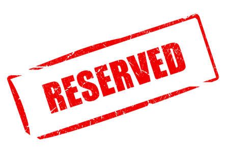 booked: Reserved stamp illustration Stock Photo