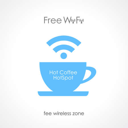 cafe internet: Internet cafe dise�o Vectores