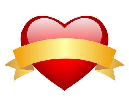 red glass heart Stock Vector - 16837093
