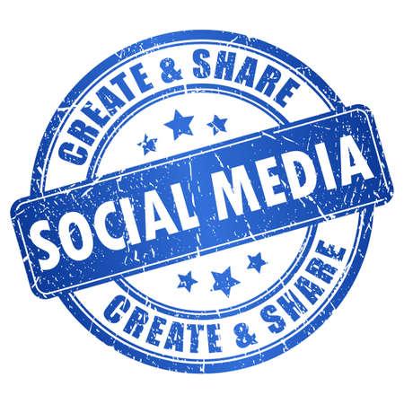 social media symbol Stock Vector - 16837101