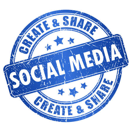 les médias sociaux symbole